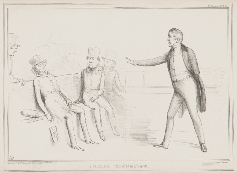 Animal Magnetism, by John ('HB') Doyle, printed by  Alfred Ducôte, published by  Thomas McLean, published 14 June 1838 - NPG D41477 - © National Portrait Gallery, London