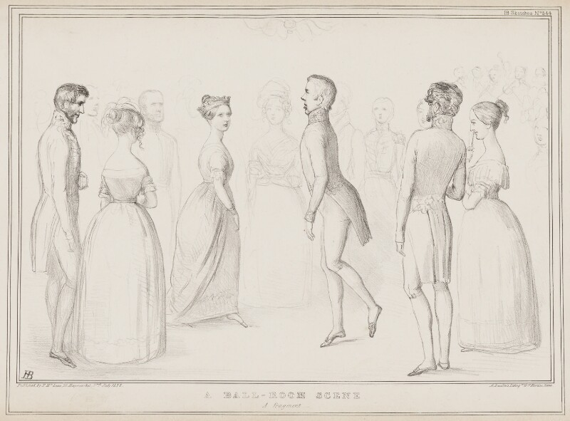 A Ball-Room Scene, by John ('HB') Doyle, printed by  Alfred Ducôte, published by  Thomas McLean, published 3 July 1838 - NPG D41478 - © National Portrait Gallery, London