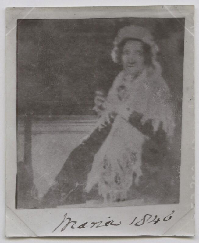 Maria Edgeworth, by Henry Dixon & Son, after  Michael Pakenham Edgeworth, circa 1938 (1846) - NPG x136660 - © National Portrait Gallery, London