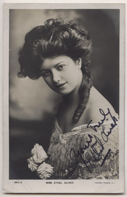Ethel Oliver, published by Rotary Photographic Co Ltd, 1900s - NPG x21679 - © National Portrait Gallery, London