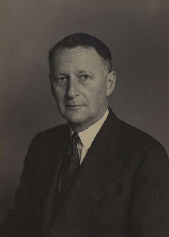 Edward George William Tyrwhitt Knollys, 2nd Viscount Knollys, by Walter Stoneman, January 1949 - NPG x168791 - © National Portrait Gallery, London