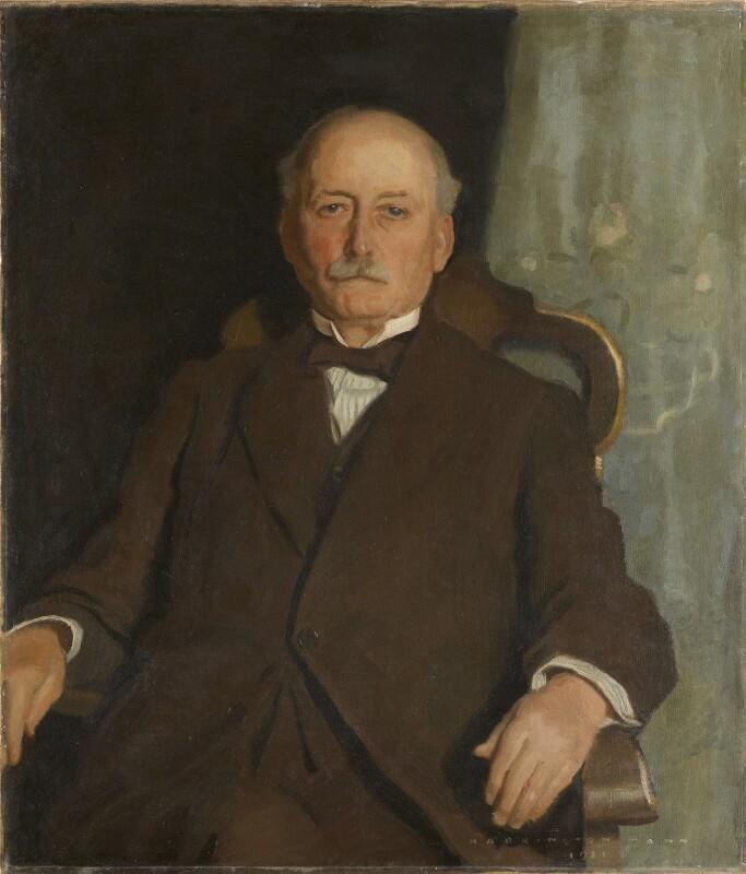 Sir Robert McAlpine, 1st Bt, by Harrington Mann, 1921 - NPG 6958 - © National Portrait Gallery, London
