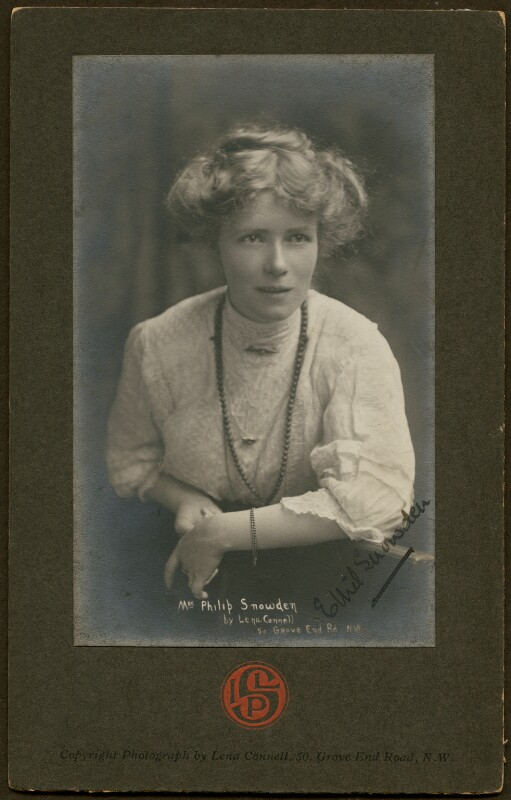 Ethel Snowden (née Annakin), Viscountess Snowden, by Lena Connell (later Beatrice Cundy), circa 1919 - NPG x136719 - © reserved; collection National Portrait Gallery, London