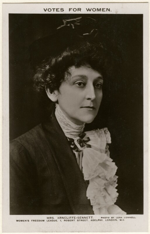 (Alice) Maud Mary Arncliffe Sennett (née Sparagnapane), by Lena Connell (later Beatrice Cundy), published by  Women's Freedom League, circa 1908 - NPG x136720 - © reserved; collection National Portrait Gallery, London