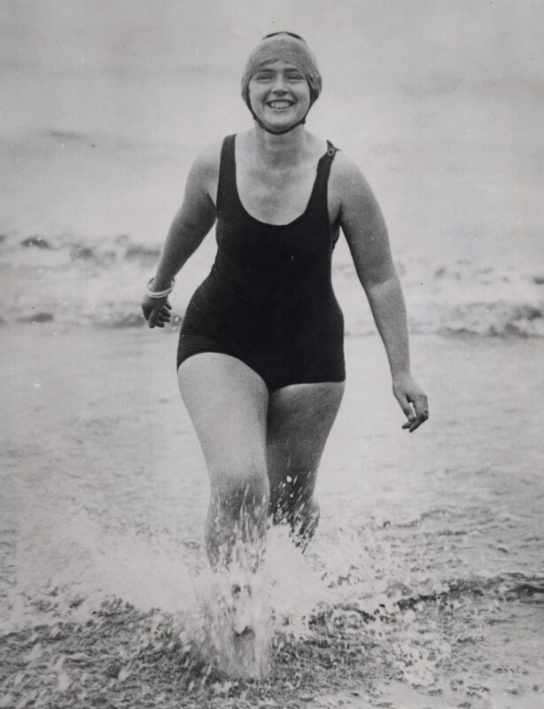 Mercedes Gleitze, by Underwood & Underwood, 26 June 1928 - NPG x136729 - © National Portrait Gallery, London