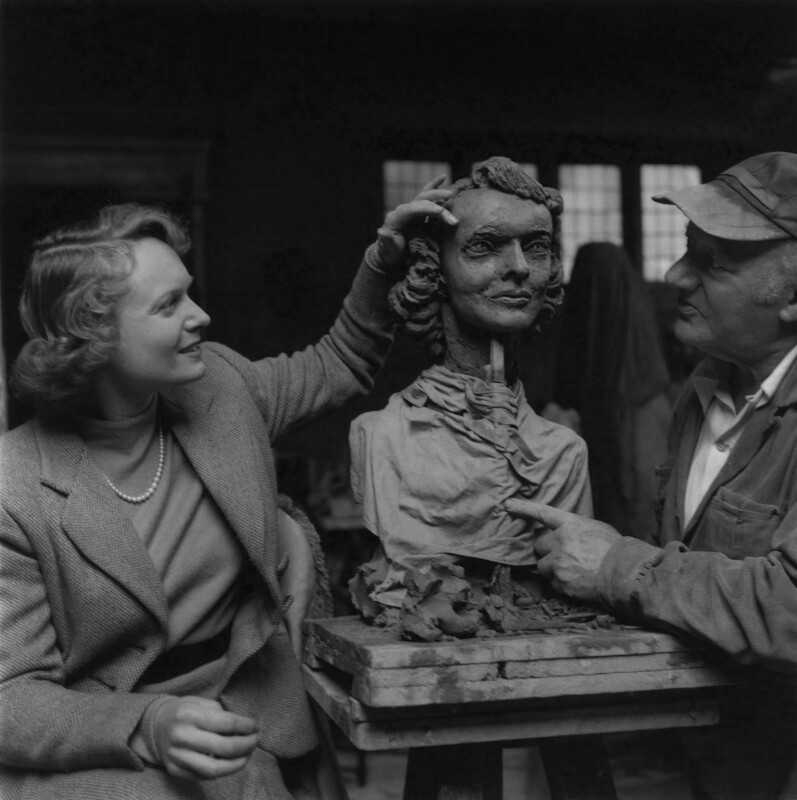 Anna Neagle; Jacob Epstein, by Ida Kar, 1953 - NPG x136756 - © National Portrait Gallery, London