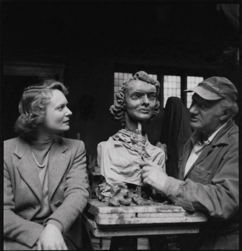 Anna Neagle; Jacob Epstein, by Ida Kar, 1953 - NPG x136757 - © National Portrait Gallery, London