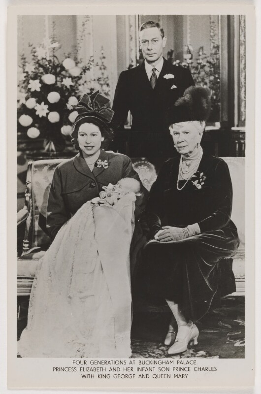 'Four Generations at Buckingham Palace', possibly by Baron (Sterling Henry Nahum), published by  Raphael Tuck & Sons, 15 December 1948 - NPG x136772 - © Baron/Camera Press