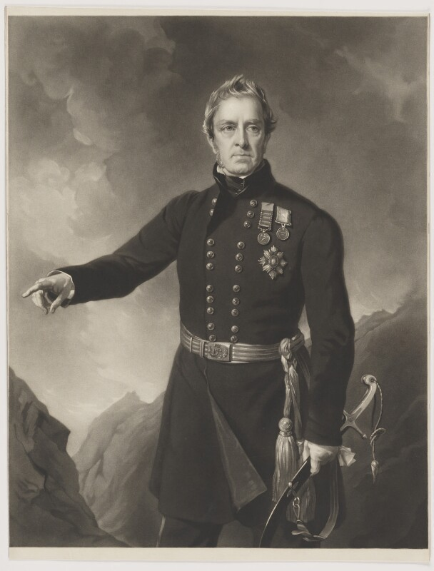 Sir George Pollock, 1st Bt, by James John Chant, after  Sir Francis Grant, 1857 - NPG D42609 - © National Portrait Gallery, London