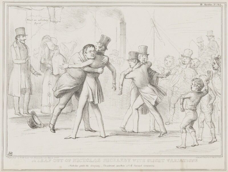 A Leaf out of Nicholas Nickleby with Slight Variations, by John ('HB') Doyle, printed by  Alfred Ducôte, published by  Thomas McLean, published 26 March 1839 - NPG D41516 - © National Portrait Gallery, London