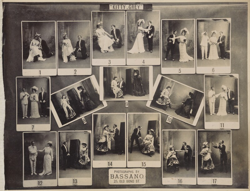 Scenes from 'Kitty Grey', by and after Alexander Bassano, circa 1902 (1901) - NPG Ax136832 - © National Portrait Gallery, London