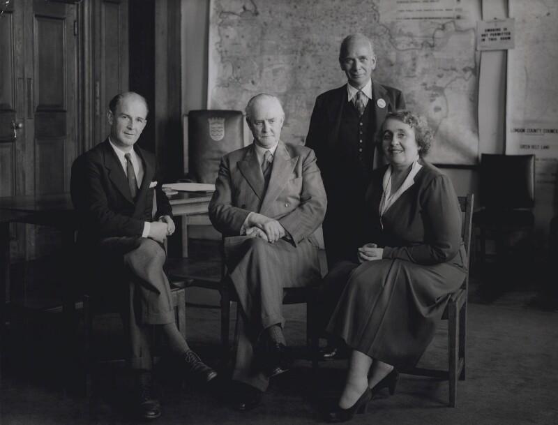 Henry Charles Usborne; Clement Edward Davies; Gilbert McAllister; Mary Tibaldi Chiesa, by Howard Coster, 1954 - NPG x136841 - © National Portrait Gallery, London