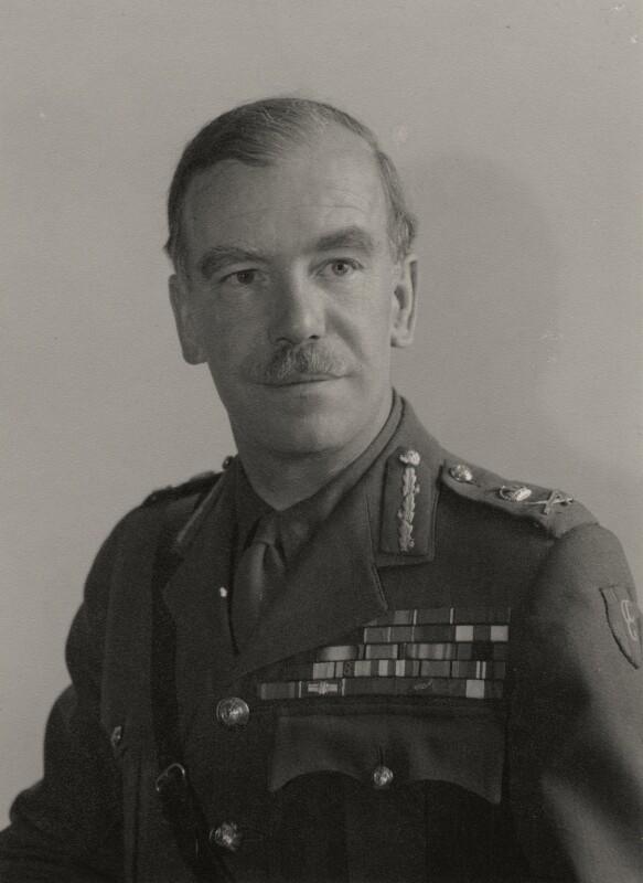 Brian Hubert Robertson, 1st Baron Robertson of Oakridge, by Walter Stoneman, 1947 - NPG x159957 - © National Portrait Gallery, London