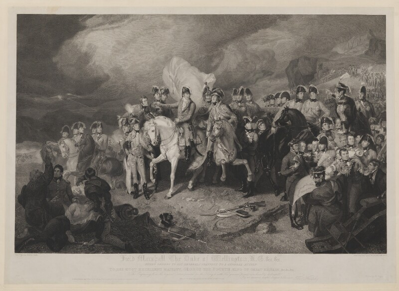 Field Marshall the Duke of Wellington KG &c &c Giving Orders to his Generals Previous to a General Action, by, published by and after Anker Smith, by  Thomas Heaphy, published by  Rudolph Ackermann, published 8 August 1822 - NPG D42614 - © National Portrait Gallery, London