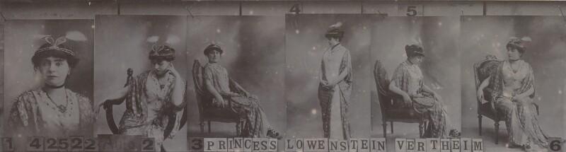 Princess Anne of Löwenstein-Wertheim-Freudenberg (née Lady Anne Savile), by and after Bassano Ltd, 1913 - NPG Ax136943 - © National Portrait Gallery, London