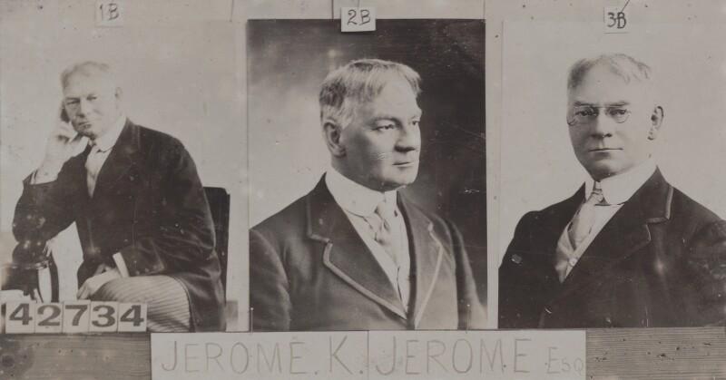 Jerome Klapka Jerome, by and after Bassano Ltd, 1914 - NPG Ax136959 - © National Portrait Gallery, London