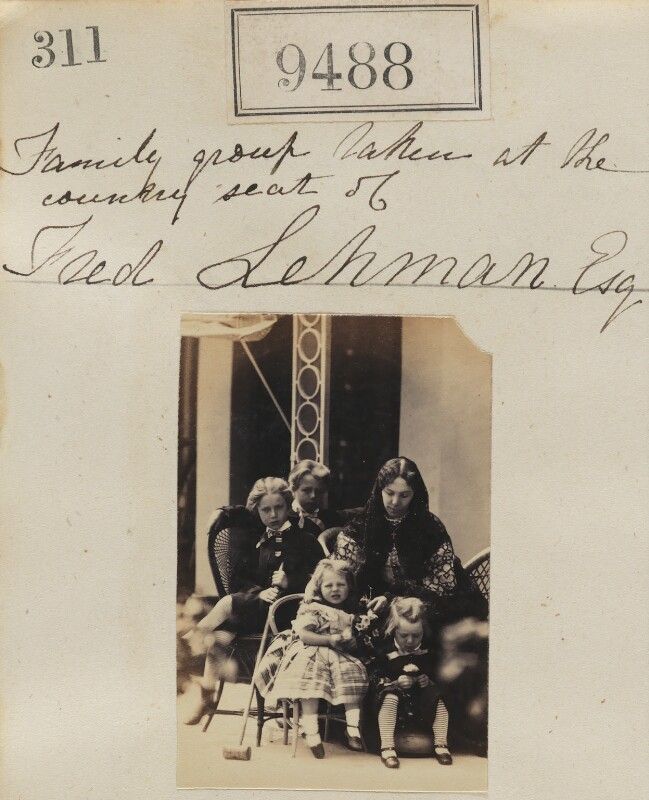 'Family group taken at the country seat of Fred Lehman Esq', possibly by or copy by Camille Silvy, circa 1864 - NPG Ax59296 - © National Portrait Gallery, London