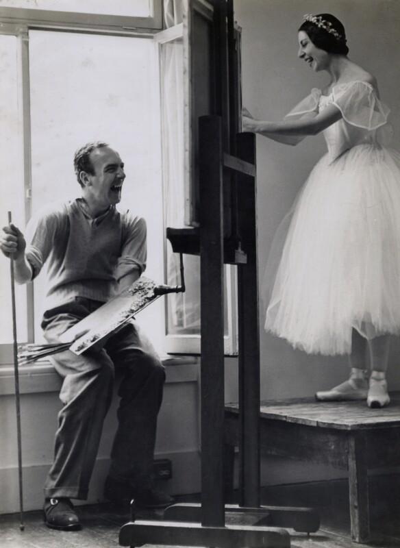 Edward Brian Seago; Alicia Markova, by Gordon Anthony, circa 1950 - NPG x137038 - © reserved; collection National Portrait Gallery, London