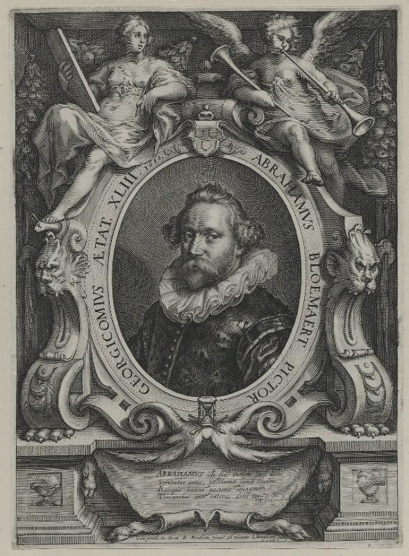 Abraham Bloemaert, by Jacob Matham, after  Paulus Moreelse, 1610 - NPG D42649 - © National Portrait Gallery, London