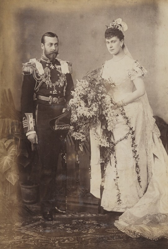 King George V; Queen Mary, by W. & D. Downey, 6 July 1893 - NPG P1700(2a) - © National Portrait Gallery, London
