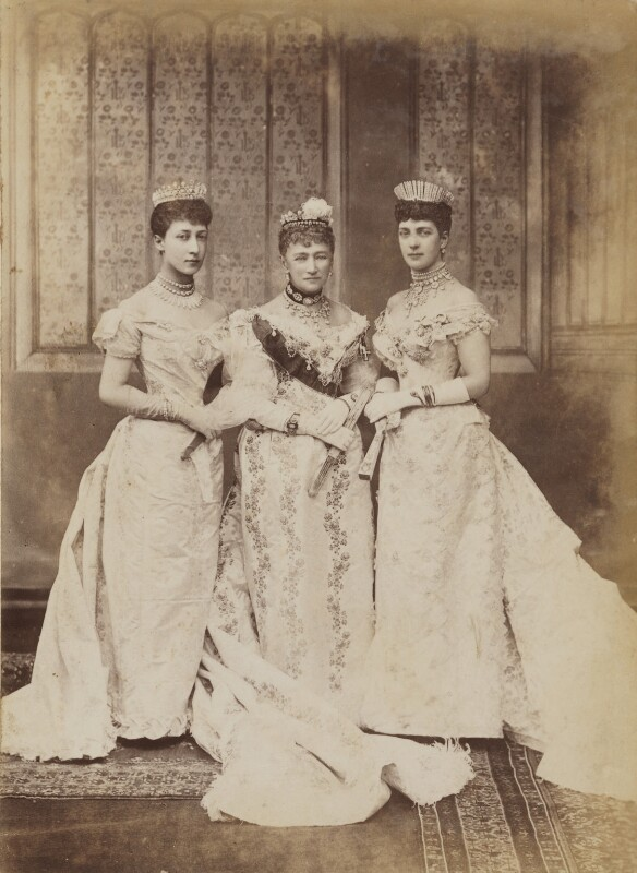 Princess Louise, Duchess of Fife; Louise, Queen of Denmark; Queen Alexandra, by Lafayette, 6 July 1893 - NPG P1700(2b) - © National Portrait Gallery, London