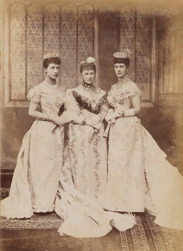 Princess Louise, Duchess of Fife; Louise, Queen of Denmark; Queen Alexandra, by Lafayette (Lafayette Ltd), 6 July 1893 - NPG P1700(2b) - © National Portrait Gallery, London
