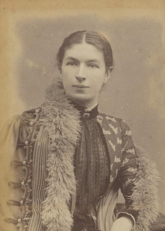 Mary Augusta Ward (née Arnold), by Herbert Rose Barraud, circa 1889 - NPG P1700(3a) - © National Portrait Gallery, London
