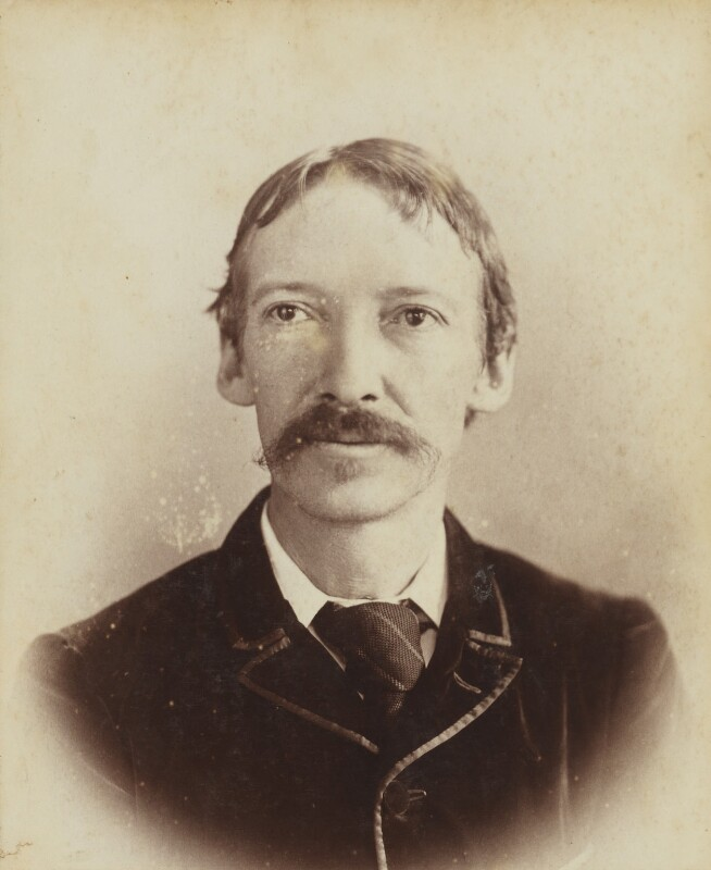 Robert Louis Stevenson, by Unknown photographer, circa 1893 - NPG P1700(4b) - © National Portrait Gallery, London