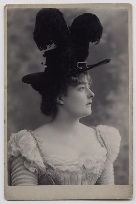 Maude ('Maudie') Francis (Francesca Charlotte Schmidt), by Alexander Bassano, late 1890s - NPG x137158 - © National Portrait Gallery, London