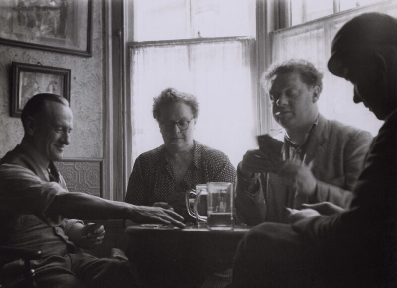Dylan Thomas; Ebie Williams; Ivy Williams and her brother Billy, by Rollie McKenna, September 1953 - NPG x137169 - © Rosalie Thorne McKenna Foundation; Courtesy Center for Creative Photography, University of Arizona Foundation