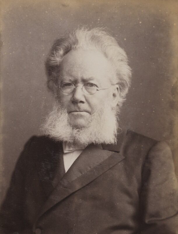 Henrik Ibsen, by Julius Cornelius Schaarwächter, circa 1891 - NPG P1700(12b) - © National Portrait Gallery, London