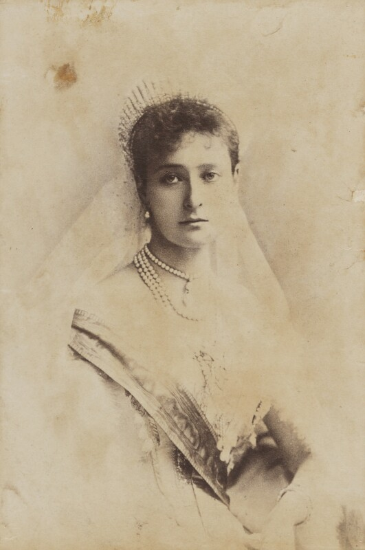 Alexandra, Empress of Russia (née Princess Alix of Hesse and by Rhine), by Alexander Pasetti, 1895 - NPG P1700(13c) - © National Portrait Gallery, London