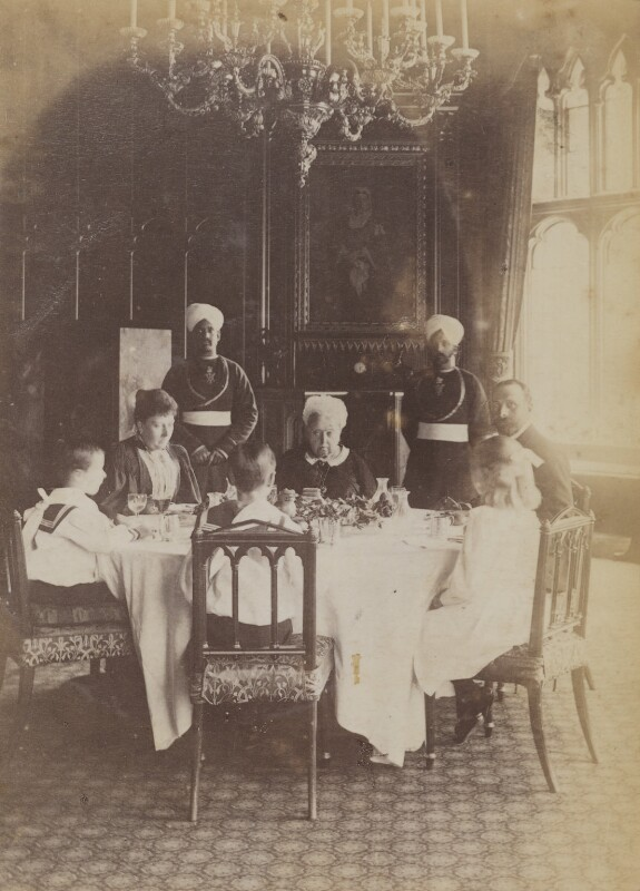 'A Royal Luncheon Party at Windsor', by Mary Steen, 1895 - NPG P1700(14b) - © National Portrait Gallery, London