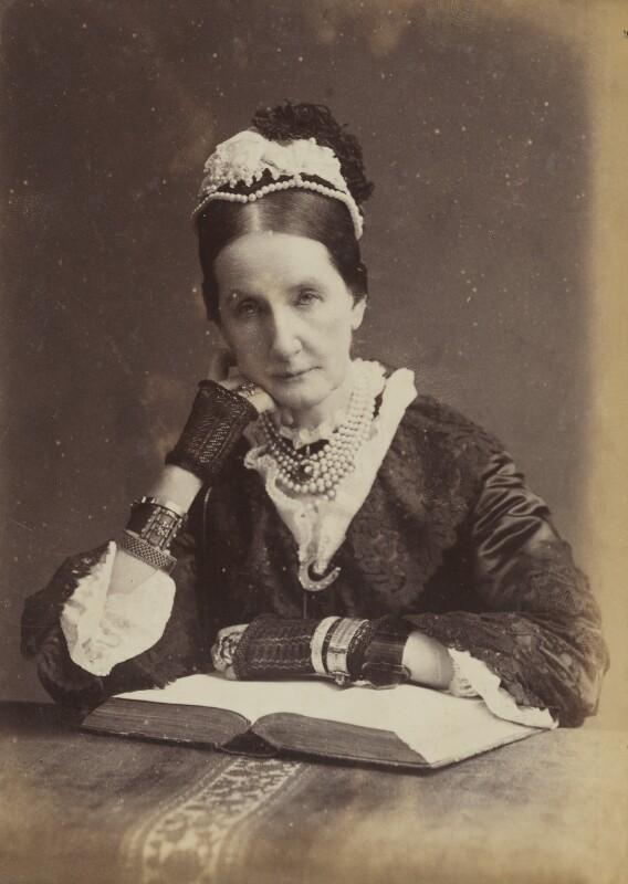 Angela Burdett-Coutts, Baroness Burdett-Coutts, by Francis Henry Hart, for  Elliott & Fry, 1882 - NPG P1700(16d) - © National Portrait Gallery, London