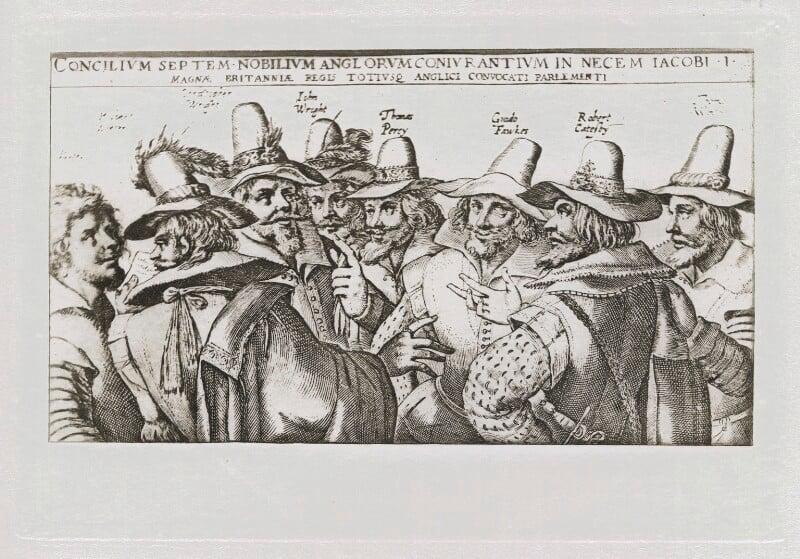 The Gunpowder Plot Conspirators, 1605, after Crispijn de Passe the Elder, published 1902 (circa 1605) - NPG D42676 - © National Portrait Gallery, London