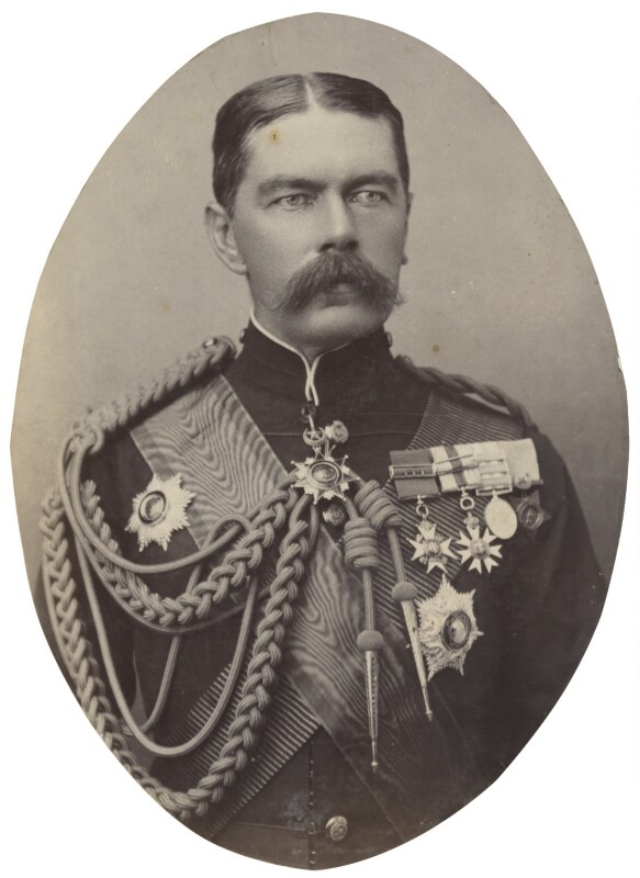 Herbert Kitchener, 1st Earl Kitchener, by Alexander Bassano, 1895 - NPG P1700(41c) - © National Portrait Gallery, London