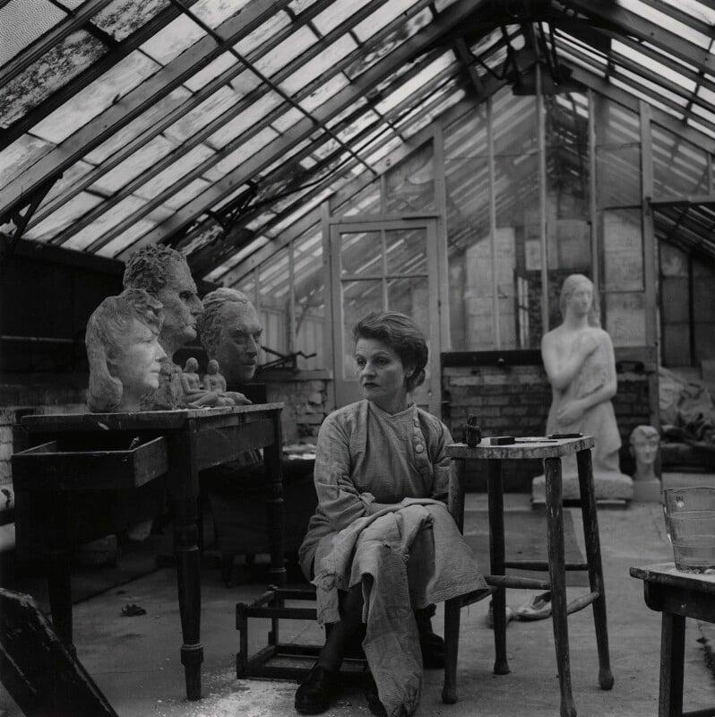 Anna Mahler, by Francis Goodman, 30 October 1949 - NPG x195009 - © National Portrait Gallery, London