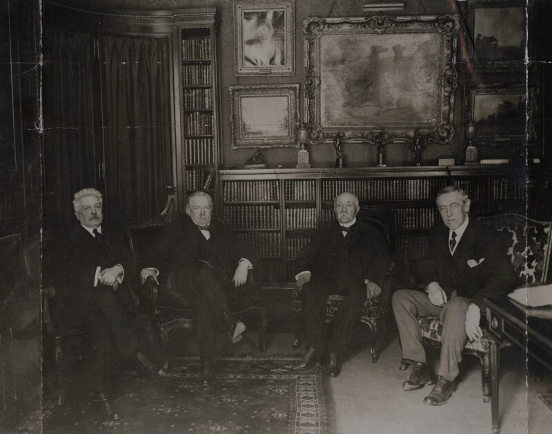 Council of Four, Paris Peace Conference, by Topical Press, January 1919 - NPG x137234 - © National Portrait Gallery, London