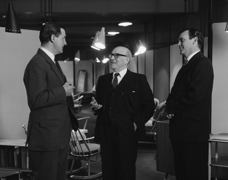 Lucian Brett Ercolani; Lucian Randolph Ercolani; David Barry Ercolani, by Rex Coleman, for  Baron Studios, 22 May 1963 - NPG x191615 - © National Portrait Gallery, London