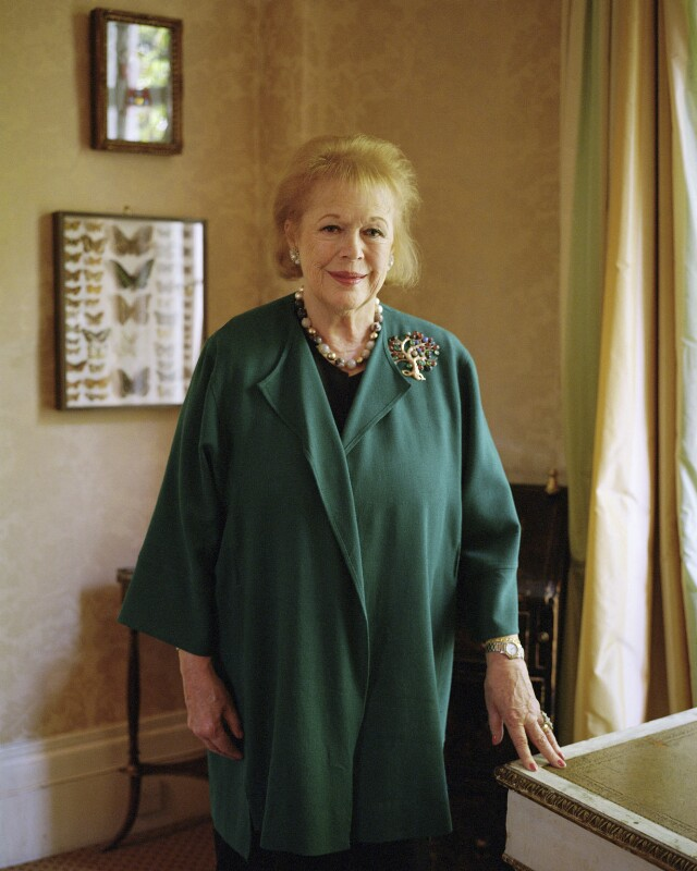 Lady Antonia Fraser, by Eva Vermandel, 10 October 2012 - NPG x137229 - © Eva Vermandel