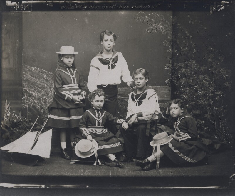 The children of King Edward VII, by Alexander Bassano, 1875 - NPG x137237 - © National Portrait Gallery, London