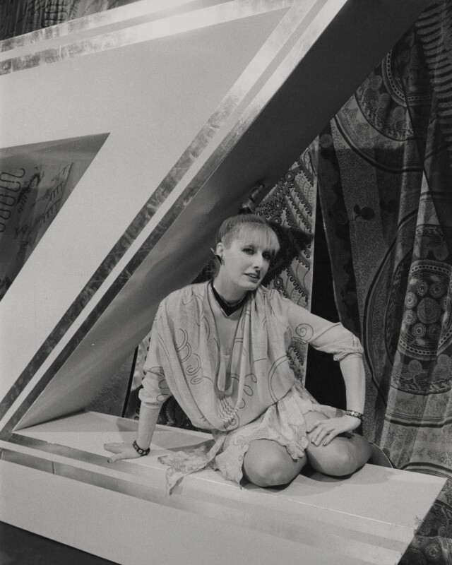Zandra Rhodes, by Unknown photographer, 17 June 1980 - NPG x184037 - © reserved; National Portrait Gallery, London