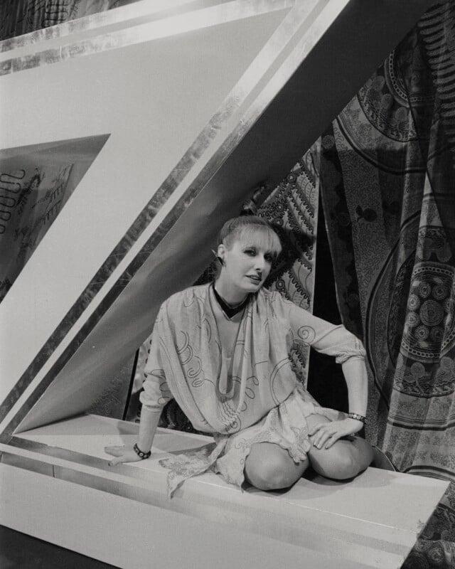 Zandra Rhodes, by Unknown photographer, 17 June 1980 - NPG x184037 - © National Portrait Gallery, London