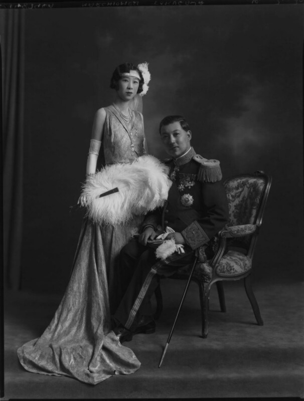 Probably Marquis Yorisade Tokugawa; probably Marchioness Tokugawa, by Lafayette (Lafayette Ltd), 10 July 1930 - NPG x70506 - © National Portrait Gallery, London