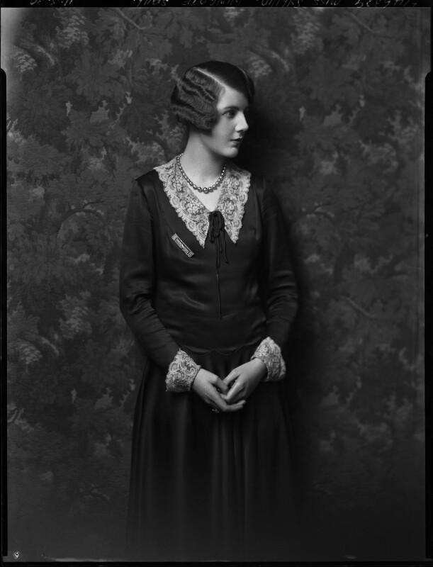Sylvia Allen (née Wingate-Saul), by Lafayette (Lafayette Ltd), 11 March 1930 - NPG x184448 - © National Portrait Gallery, London