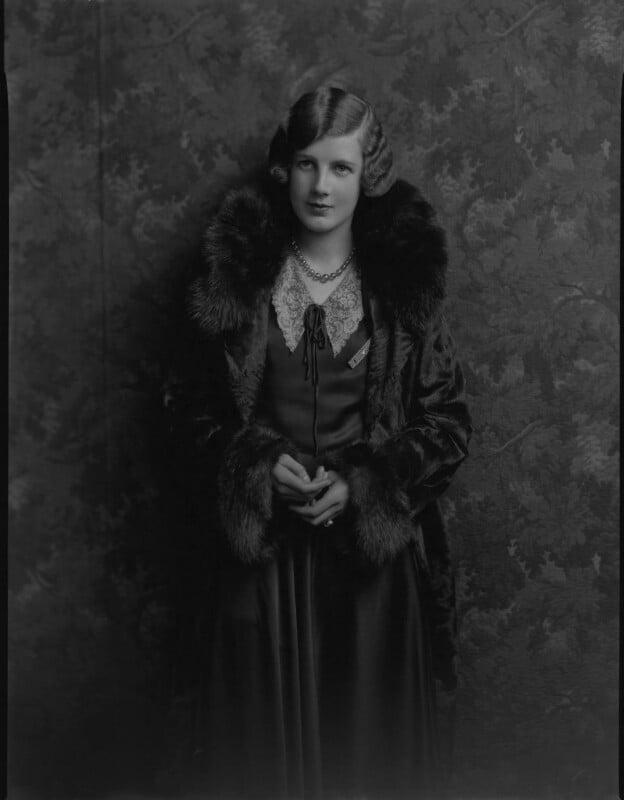Sylvia Allen (née Wingate-Saul), by Lafayette, 11 March 1930 - NPG x184449 - © National Portrait Gallery, London