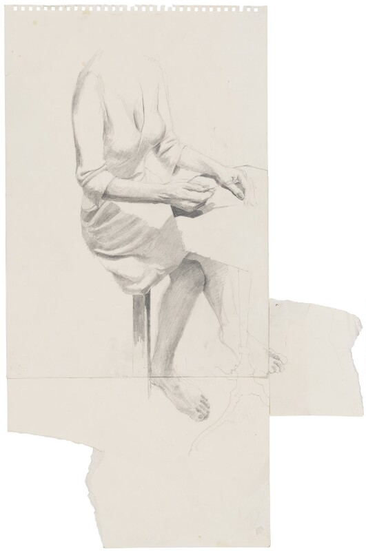 Preparatory sketch for J.K. Rowling, by Stuart Pearson Wright, 2004-2005 - NPG D42713 -