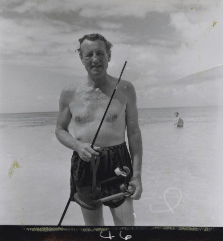 Ian Fleming, by Francis Goodman, 1964 - NPG x195031 - © National Portrait Gallery, London