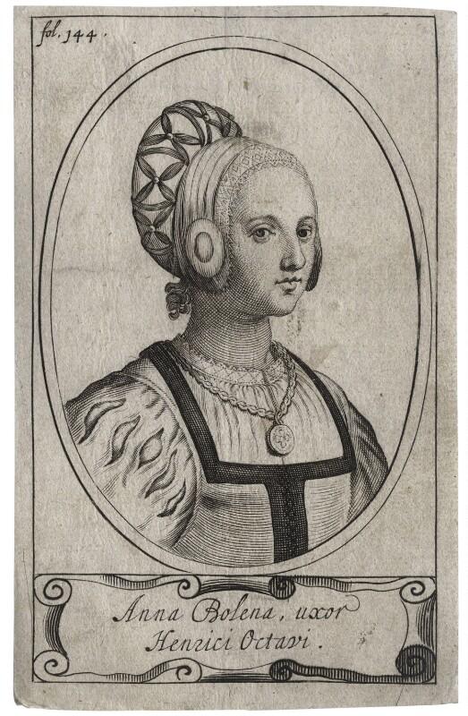Unknown woman called Anne Boleyn, after Unknown artist, 17th century - NPG D42717 - © National Portrait Gallery, London