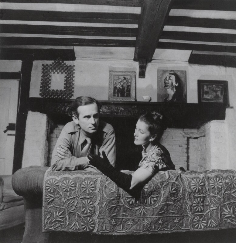 Graham Sutherland; Kathleen Frances ('Katharine') Sutherland (née Barry), by Francis Goodman, 1946 - NPG x68810 - © National Portrait Gallery, London